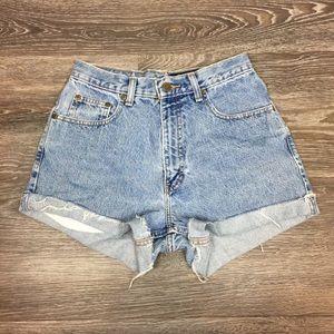 Vintage •Eddie Bauer• High Waisted Jean Shorts